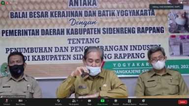 Penandatangan MoU  antara Pemda Kabupaten Sidenreng Rapang (Sidrap)  dengan BBKB Yogyakarta  Dalam Rangka Penumbuhan dan Pengembangan Industri
