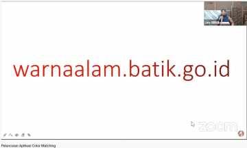 Soft Launching & Knowledge Sharing NaDIn:  Natural Dyes Indexation (Katalog Digital Warna Alam)