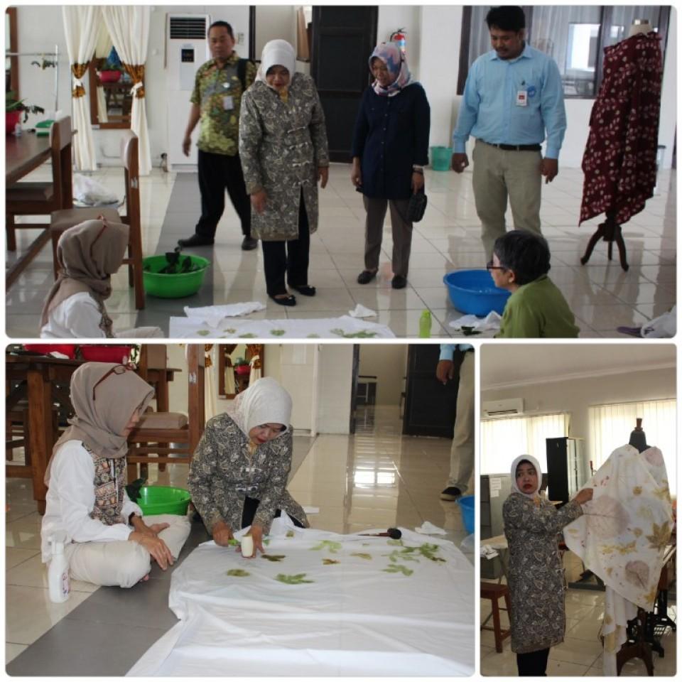 Monitoring Pelatihan Batik Ketua Dekranasda Kab. Pekalongan Berkunjung Ke  di BBKB Yogyakarta_foto