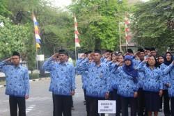 Upacara Hari Ulang Tahun Kemerdekaan RI ke 70 di Balai Besar  Kerajinan dan Batik Yogyakarta_foto