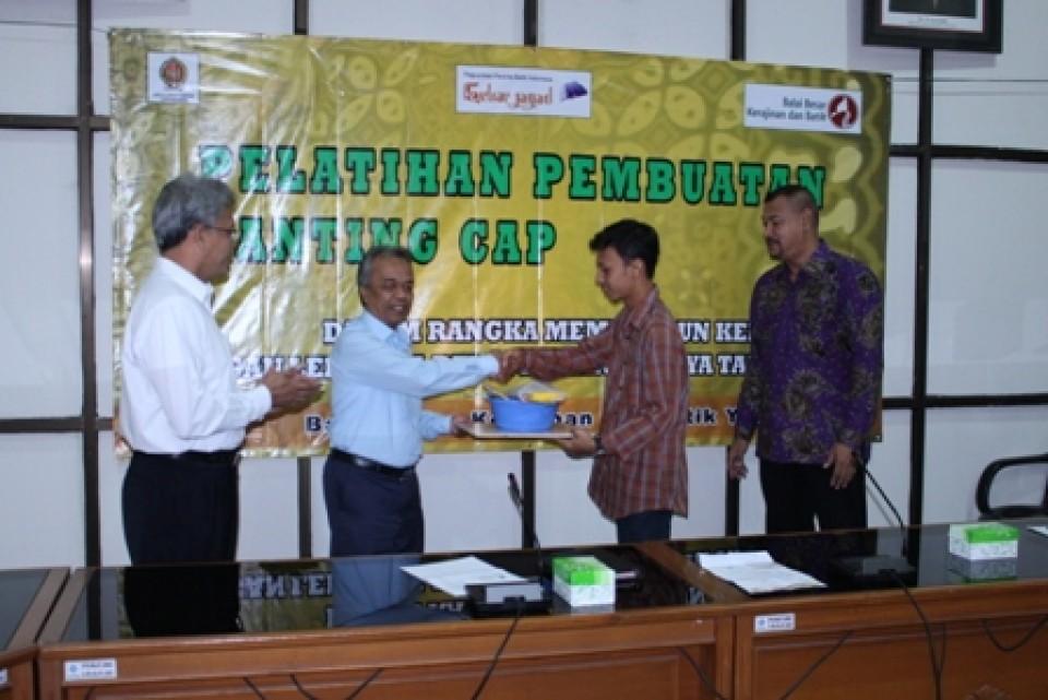 Pembukaan Pelatihan Pembuatan Canting Cap di Balai Besar Kerajinan dan Batik Yogyakarta_foto