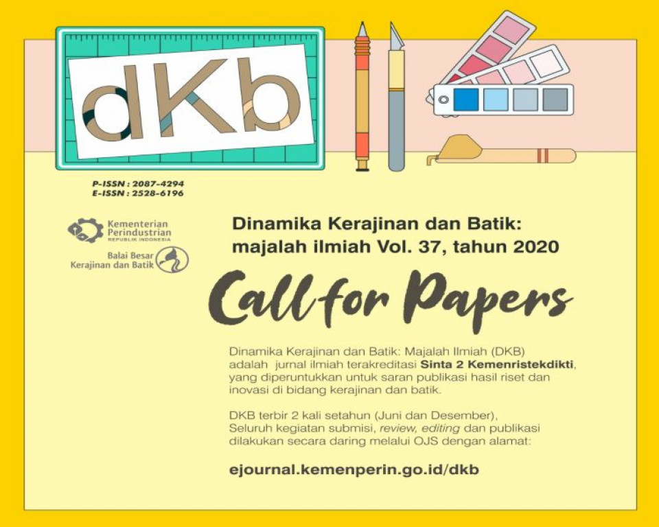 Call For Papers E Journal DKB Volume 37 Tahun 2020_foto