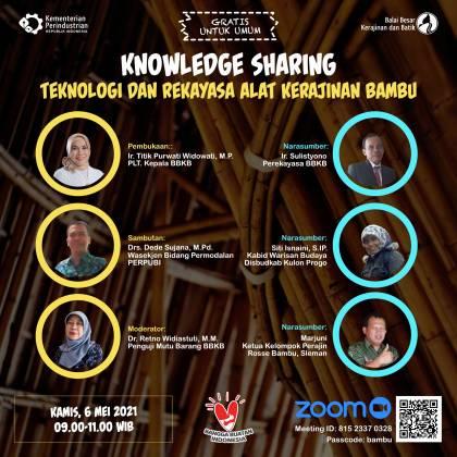 Knowledge Sharing: Teknologi & Rekayasa Alat Kerajinan Bambu_foto