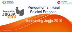 Pengumuman Hasil Seleksi Proposal Innovating Jogja 2019_foto