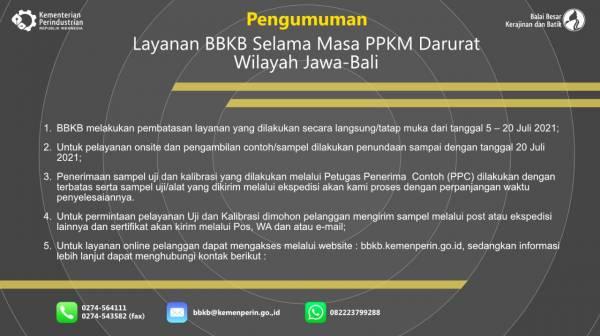 Pengumuman Layanan BBKB Selama PPKM Darurat_foto