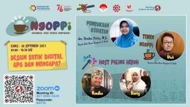 Undangan Ngoppi (Ngobrol Pagi Penuh Inspirasi)  dengan topik: Desain Batik Digital, Apa dan Mengapa