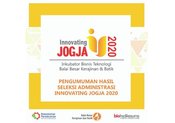 Pengumuman Hasil Seleksi Innovating Administratif Innovating Jogja 2020_foto