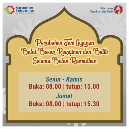 Jam Layanan BBKB Selama Bulan Ramadhan_foto