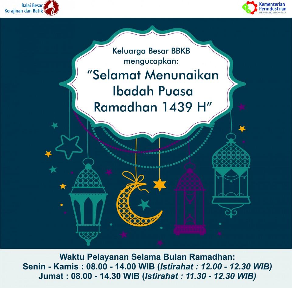 Waktu Pelayanan Publik BBKB Pada Bulan Ramadhan 1439 H_foto