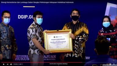 Balai Besar Kerajinan dan Batik Mendapatkan Penghargaan Permohonan Pendaftaran Desain Industri Tertinggi Selama Masa Pandemi