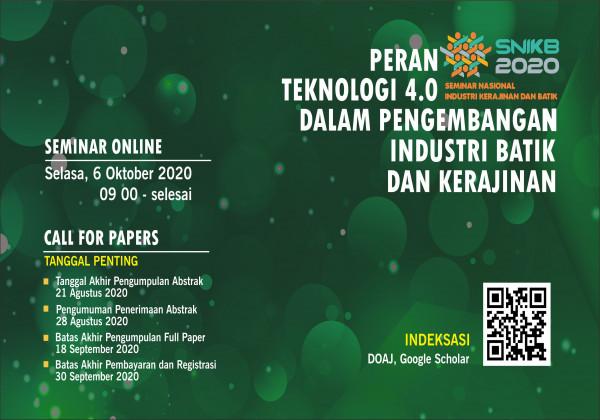 Pendaftaran Seminar Online Peran Teknologi 4.0 Dalam Pengembangan Industri Batik dan Kerajinan_foto