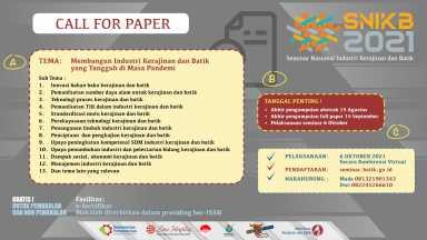 Seminar Nasional Industri Kerajinan dan Batik 2021
